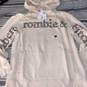 A&F Cheetah print hoodie, NWT size large